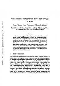 On nonlinear waves of the blood flow through arteries