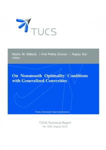 On Nonsmooth Optimality Conditions with