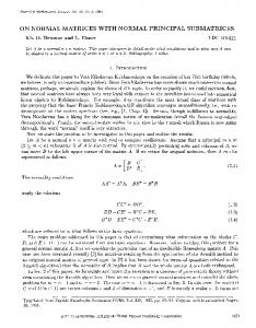 On normal matrices with normal principal submatrices - Springer Link