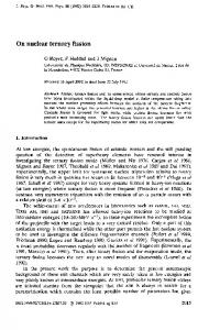On nuclear ternary fission