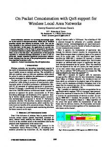 On Packet Concatenation with QoS support for Wireless ... - IEEE Xplore