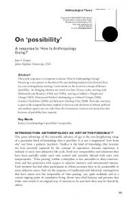 On 'possibility' - SAGE Journals - Sage Publications