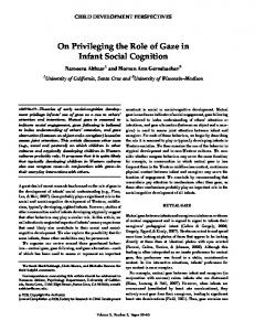 On Privileging the Role of Gaze in Infant Social Cognition