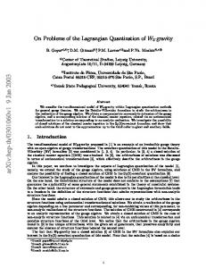 On Problems of the Lagrangian Quantization of W3-gravity