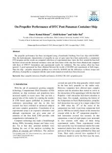 On Propeller Performance of DTC Post-Panamax Container Ship
