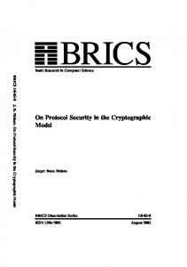 On Protocol Security in the Cryptographic Model