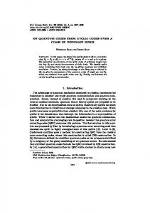 ON QUANTUM CODES FROM CYCLIC CODES OVER A CLASS OF ...