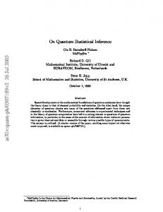 On Quantum Statistical Inference, I