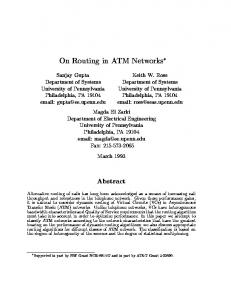 On Routing in ATM Networks - Semantic Scholar