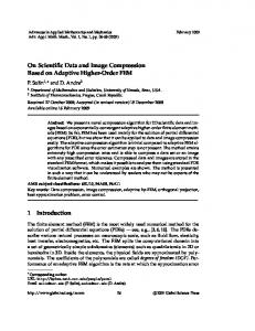 On Scientific Data and Image Compression Based on Adaptive ...