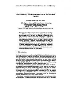 On Similarity Measures based on a Refinement ... - Semantic Scholar