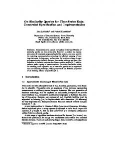 On Similarity Queries for Time-Series Data - Semantic Scholar