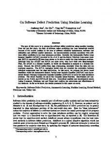 On Software Defect Prediction Using Machine Learning