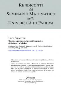 On some algebraic and geometric extension of the theory ... - Numdam