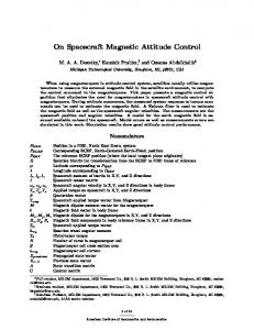 On Spacecraft Magnetic Attitude Control