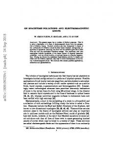 On spacetime foliations and electromagnetic knots