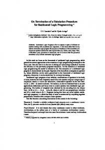 On Termination of a Tabulation Procedure for Residuated Logic
