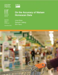 On the Accuracy of Nielsen Homescan Data - Stanford University