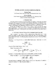 ON THE ALMOST HILBERT-SMITH MATRICES Dursun Tasci Ercan ...