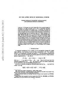 On the Apery sets of monomial curves