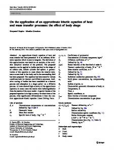 On the application of an approximate kinetic equation ... - Springer Link