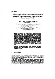 On the Application of Artificial Neural Network in Analyzing and ...