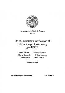 On the automatic verification of interaction ... - Semantic Scholar