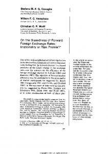 On the biasedness of forward foreign exchange rates ... - Core