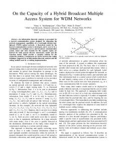 On the Capacity of a Hybrid Broadcast Multiple Access ... - CiteSeerX