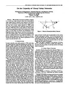 On the Capacity of 'Cheap' Relay Networks - Semantic Scholar