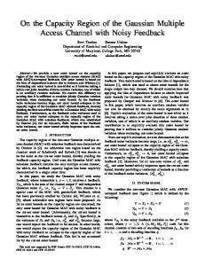 On the Capacity Region of the Gaussian Multiple Access Channel with ...