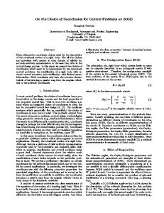 On the Choice of Coordinates for Control Problems ... - Semantic Scholar