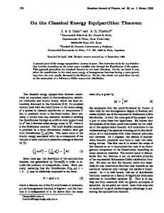 On the Classical Energy Equipartition Theorem