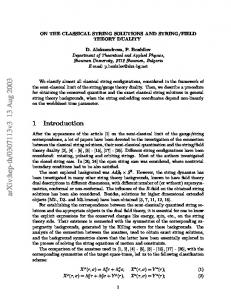 On the Classical String Solutions and String/Field Theory Duality