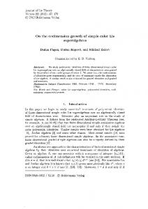 On the codimension growth of simple color Lie superalgebras