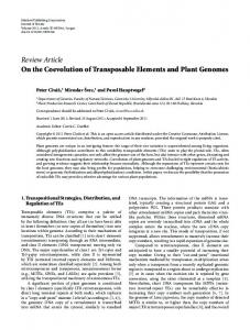 On the Coevolution of Transposable Elements and Plant Genomes