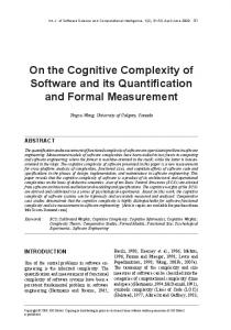 On the Cognitive Complexity of Software and its ... - Semantic Scholar