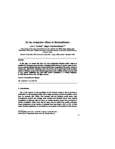 On the competitive effects of divisionalization - Departamento de