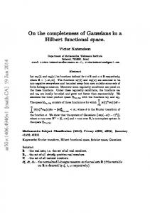 On the completeness of Gaussians in a Hilbert functional space
