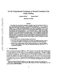 On the Computational Complexity of Minimal Cumulative Cost Graph ...