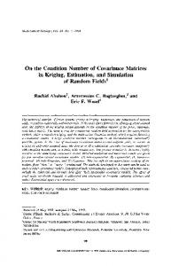 On the condition number of covariance matrices in ... - Springer Link