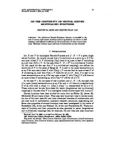 ON THE CONTINUITY OF VECTOR CONVEX MULTIVALUED ...