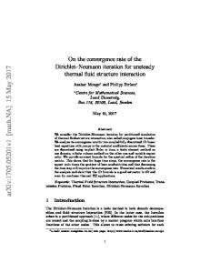 On the convergence rate of the Dirichlet-Neumann iteration for ...
