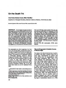 On the death Trk - Wiley Online Library