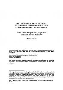 ON THE DETERMINANTS OF LOCAL GOVERNMENT ... - Core