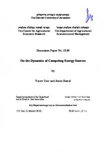 On the Dynamics of Competing Energy Sources