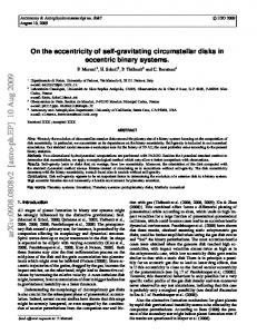 On the eccentricity of self-gravitating circumstellar disks in eccentric