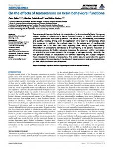 On the effects of testosterone on brain behavioral ... - Semantic Scholar