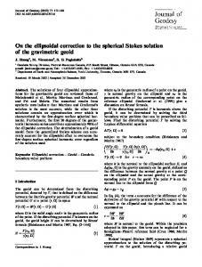 On the ellipsoidal correction to the spherical Stokes solution of ... - UNB