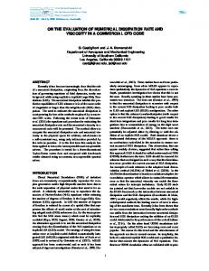on the evaluation of numerical dissipation rate and ... - TSFP conference